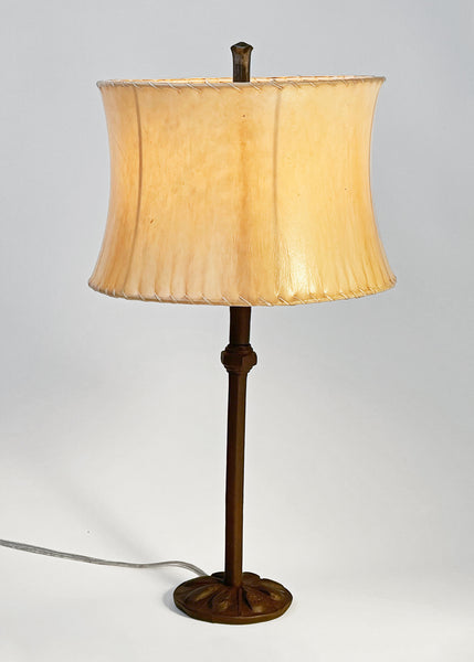 Etruscan Lamp + Contemporary Sheepskin Shade