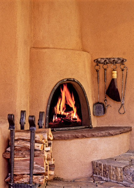 Three Tool Fireplace Wall Set