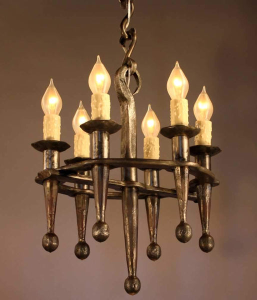 Small Rustic Fleur Chandelier - Christopher Thomson Ironworks