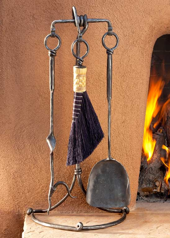 Three Tool Fireplace Set
