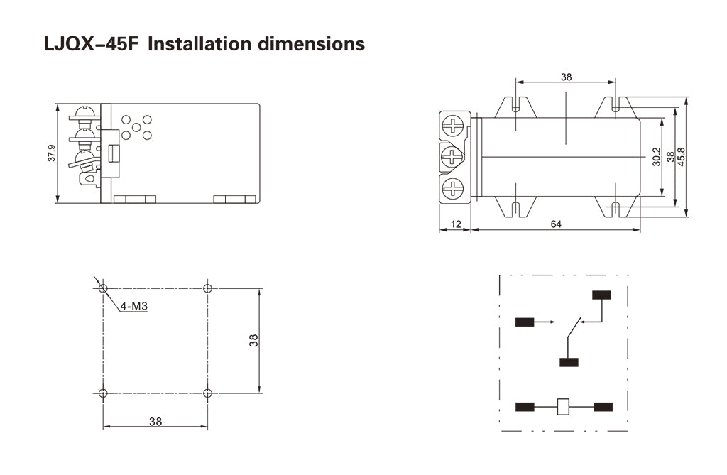 LJQX-45F_Installation_Dimensions_and_Connection_Diagram