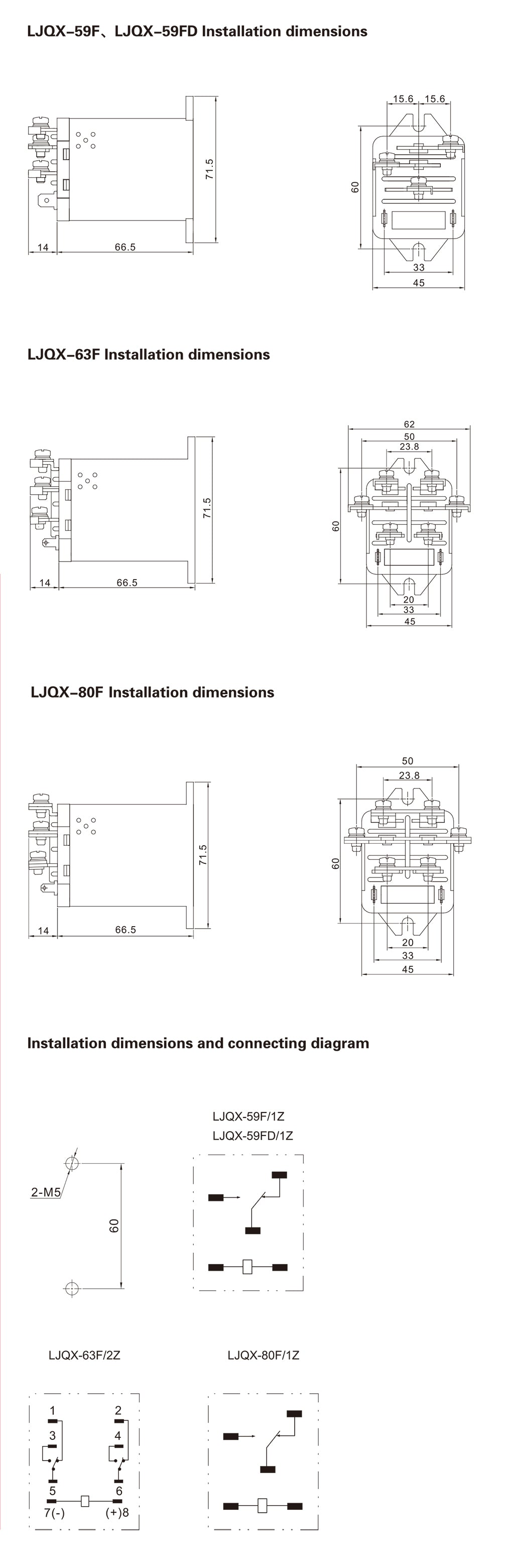 LJQX-80F_Installation_Dimensions_and_Connection_Diagram