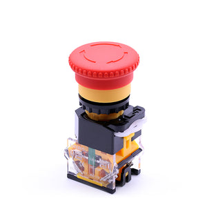 40mm Mushroom Red Head Emergency Stop Turn To Release Push Button Switch