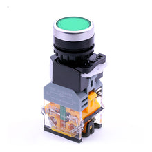 Load image into Gallery viewer, 22mm Momentary Illuminated Push Button Switch