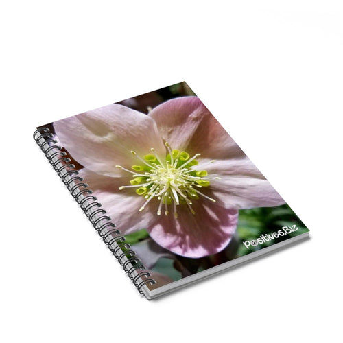 Positives.Biz ~ Exotic Hellobore ~ Spiral Notebook ~ Ruled Line