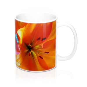 Positives.Biz ~ Multi-Color Lilies ~ Floral Mug 11oz