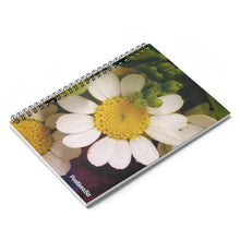 Load image into Gallery viewer, Positives.Biz ~ Wild Chamomile ~ Spiral Notebook ~ Ruled Line