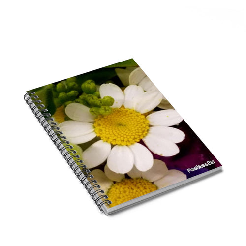 Positives.Biz ~ Wild Chamomile ~ Spiral Notebook ~ Ruled Line