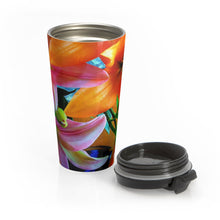 Load image into Gallery viewer, Positives.Biz ~ Multi-Colored Lilies ~ Stainless Steel Travel Mug