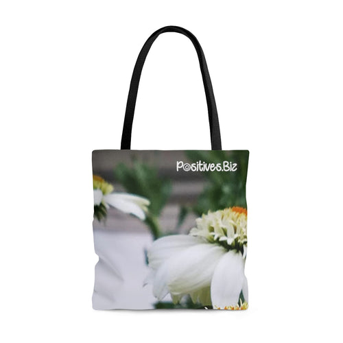 Positives.Biz ~ Calming Cone Flower ~ All Over Print Tote Bag