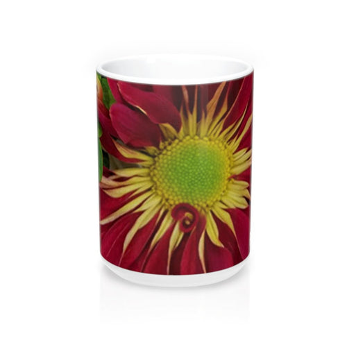 Positives.Biz ~ Fall Into Positives ~ Floral Mug ~ 15oz