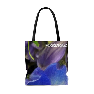 Positives.Biz ~ Beautiful Blue ~ All Over Print Tote Bag