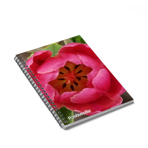 Positives.Biz ~ Garden Tulip ~ Spiral Notebook ~ Ruled Line