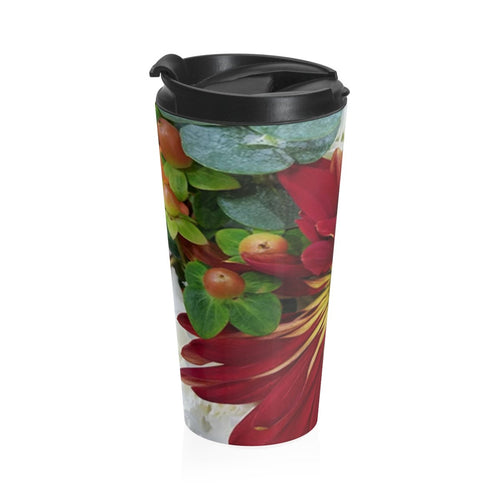 Positives.Biz ~ Fall Into Positives ~ Stainless Steel Travel Mug