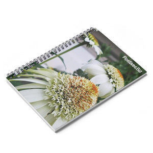 Positives.Biz ~ Calming Cone Flower ~ Spiral Notebook ~ Ruled Line