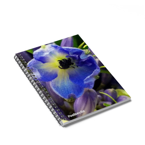 Positives.Biz ~ Beautiful Blue ~ Spiral Notebook ~ Ruled Line