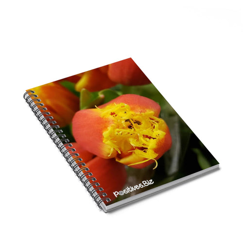 Positives.Biz ~ Fancy Tulip ~ Spiral Notebook ~ Ruled Line