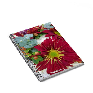 Positives.Biz ~ Fall Into Positives ~ Spiral Notebook ~ Ruled Line