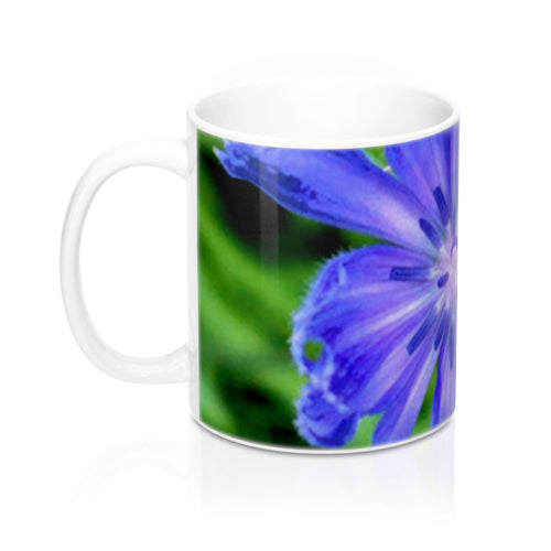 Positives.Biz ~ Lovely Chicory ~ Floral Mug ~ 11 oz