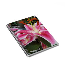 Load image into Gallery viewer, Positives.Biz ~ Ravishing Lily ~ Spiral Notebook ~ Ruled Line