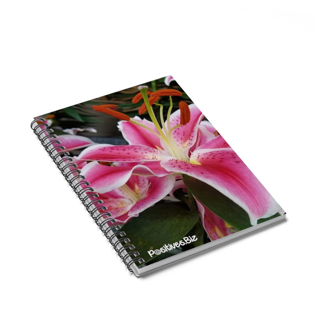 Positives.Biz ~ Ravishing Lily ~ Spiral Notebook ~ Ruled Line
