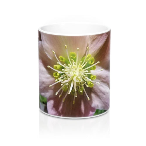 Positives.Biz ~ Exotic Hellebore ~ Floral Mug ~ 11oz