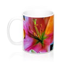 Load image into Gallery viewer, Positives.Biz ~ Multi-Color Lilies ~ Floral Mug 11oz