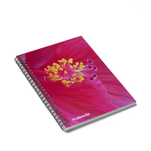 Positives.Biz ~ Happy Hibiscus ~ Spiral Notebook ~ Ruled Line