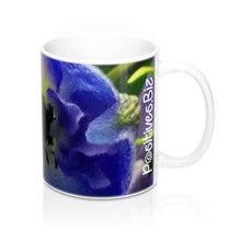 Load image into Gallery viewer, Positives.Biz ~ Beautiful Blue ~ Foral Mug ~ 11oz