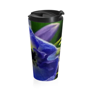 Positives.Biz ~ Beautiful Blue ~ Stainless Steel Travel Mug
