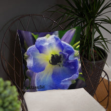 Load image into Gallery viewer, Positives.Biz ~ Beautiful Blue ~ Square Pillow
