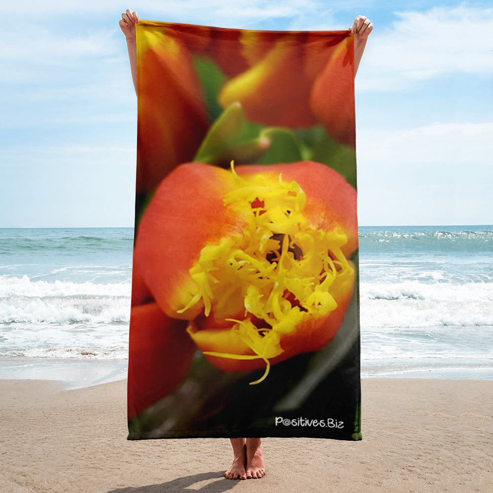 Positives.Biz ~ Fancy Tulip ~ Towel