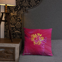 Load image into Gallery viewer, Positives.Biz ~ Happy Hibiscus ~ Square Pillow