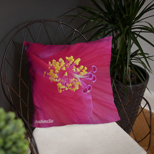 Positives.Biz ~ Happy Hibiscus ~ Square Pillow