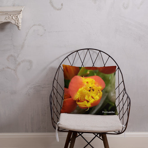 Positives.Biz ~ Fancy Tulip ~ Square Pillow