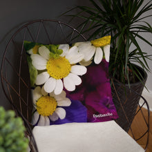 Load image into Gallery viewer, Positives.Biz ~ Wild Chamomile ~ Square Pillow