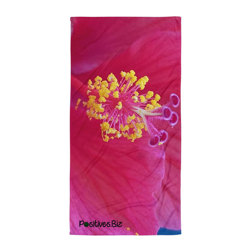 Positives.Biz ~ Happy Hibiscus ~ Towel