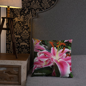 Positives.Biz ~ Ravishing Lily ~ Square Pillow