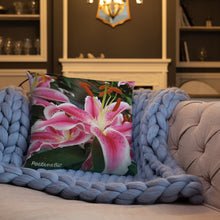 Load image into Gallery viewer, Positives.Biz ~ Ravishing Lily ~ Square Pillow