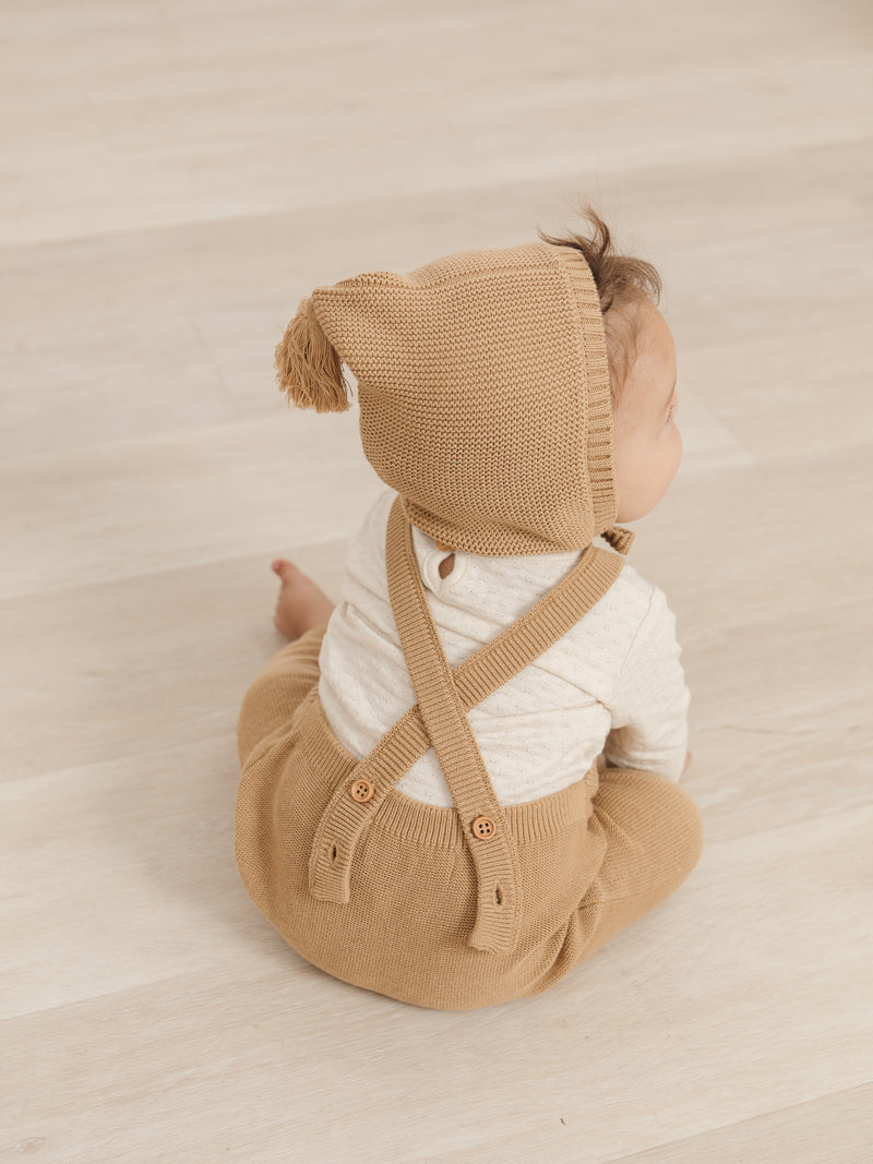 Knit Overall- Honey