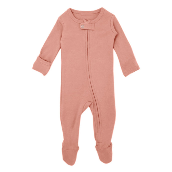 Organic Zipper Sleeper-Coral