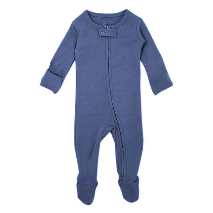 Organic Zipper Sleeper-Slate