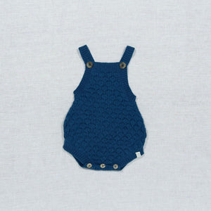 Knitted Romper-Blue