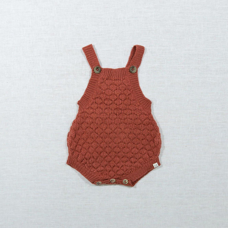 Knitted Romper-Rust