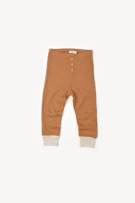 Waffle Button Pant-Camel