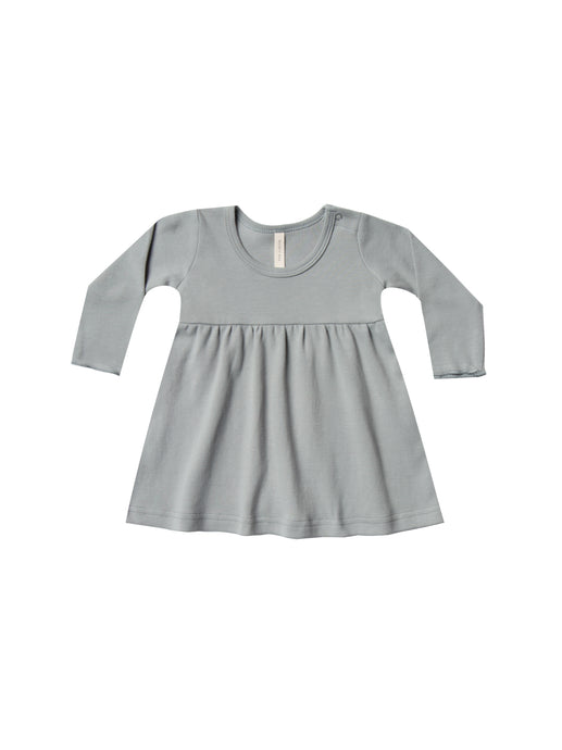 Baby Dress-Dusty Blue