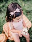Load image into Gallery viewer, Sweetheart Linen Bow Headband - Blush