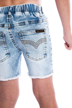 Load image into Gallery viewer, Blue Denim Jeg Shorts