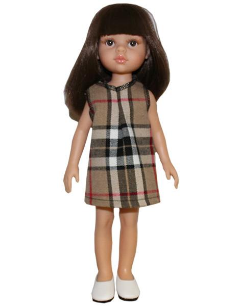 Las Amigas Doll Dress-White Cotton