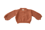 Chunky Knit Pullover-Rust